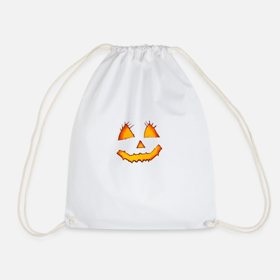 Ghost Bags & Backpacks - Scary face - Drawstring Bag white