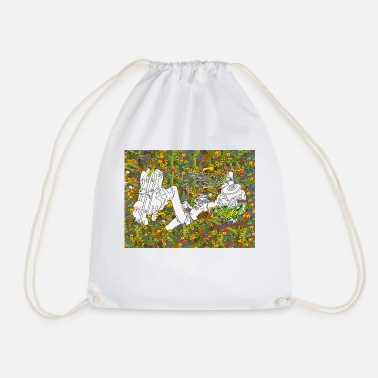 Miscellaneous 41012 1 miscellaneous digital art trippy psychedel - Drawstring Bag