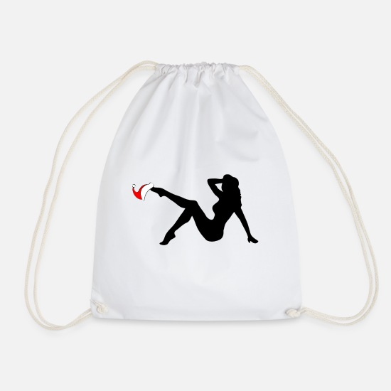Gift Idea Bags & Backpacks - Christmas Sexy Girl - Drawstring Bag white