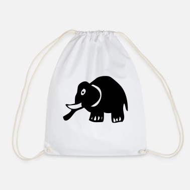 Kids Animal elephant kids animal - Drawstring Bag