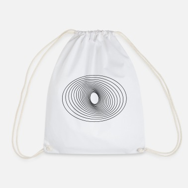 Circle Circles in Circles - Drawstring Bag