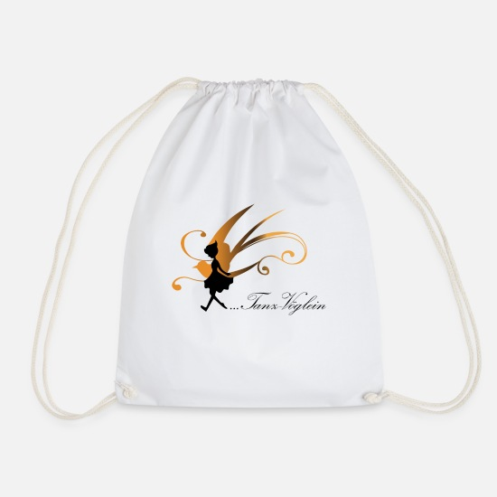 Dancer Bags & Backpacks - Dance birdie logo - Drawstring Bag white