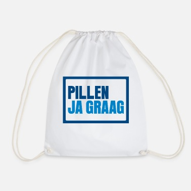 Ja Pillen? Ja graag... - Drawstring Bag