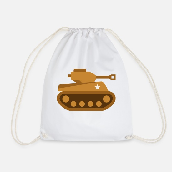 Army Bags & Backpacks - tank tank was war tanque military militaer4 - Drawstring Bag white