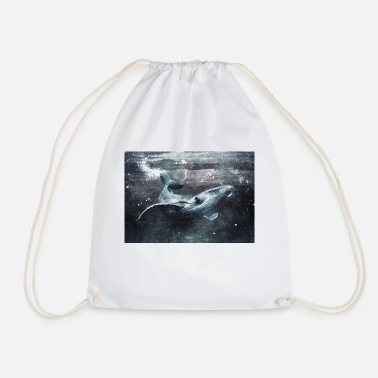 Wale Black wale - Drawstring Bag