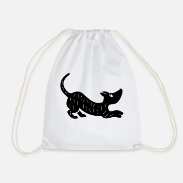 Playful Dogs playful dog - Drawstring Bag