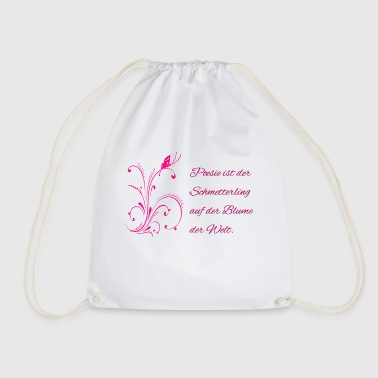 Poetry Butterfly Flower of the World - Literature - Drawstring Bag