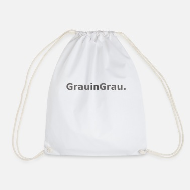 Grey Grey in grey - Drawstring Bag