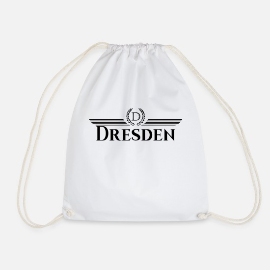 Patriot Bags & Backpacks - Dresden Atlas Cities T-Shirt - Drawstring Bag white