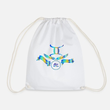 Sign Of Zodiac Zodiac sign Gemini zodiac sign - Drawstring Bag
