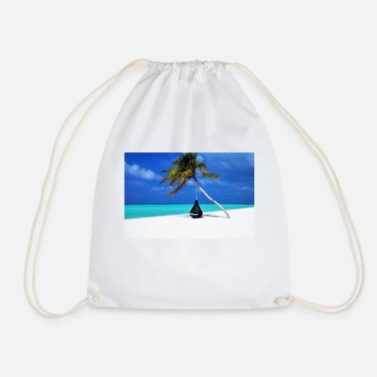 Maldives Bags & Backpacks - Maldives hammock - Drawstring Bag white