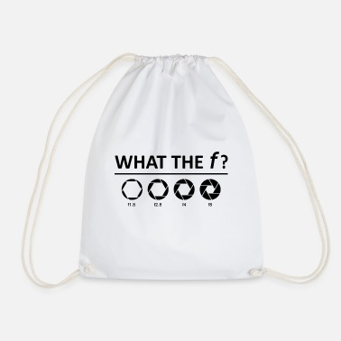 What the f? - aperture - Drawstring Bag