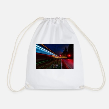 Train passage at the Nierstein level crossing - Drawstring Bag