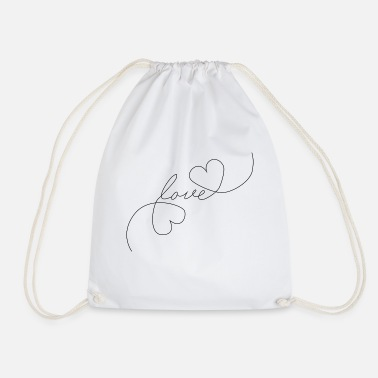 Tlc Heart Love - Oneline - Drawstring Bag