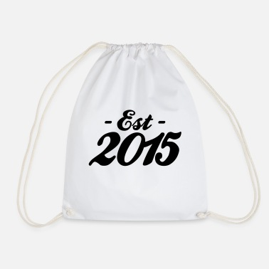 Established established 2015 naissance bébé - Sac à dos cordon