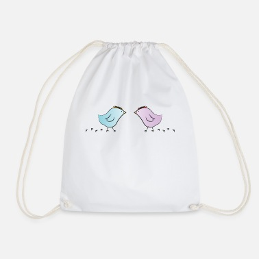 Chick - in love - Drawstring Bag