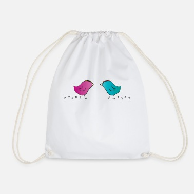 Chick Couple Love - Drawstring Bag