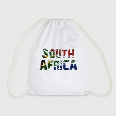 South Africa South Africa flag banner font - Drawstring Bag