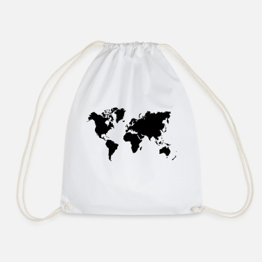 World Map - Drawstring Bag