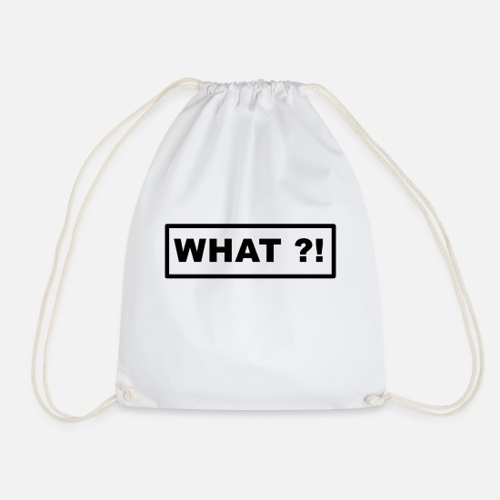 What Bags & Backpacks - What - Drawstring Bag white