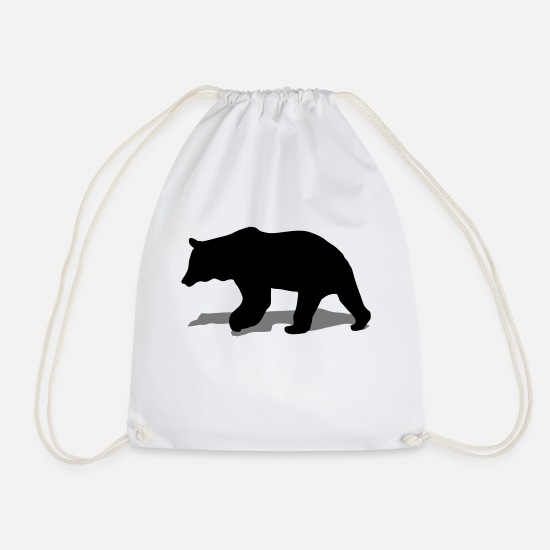 Canada Bags & Backpacks - bear - brown bear - hunting - hunter - Drawstring Bag white