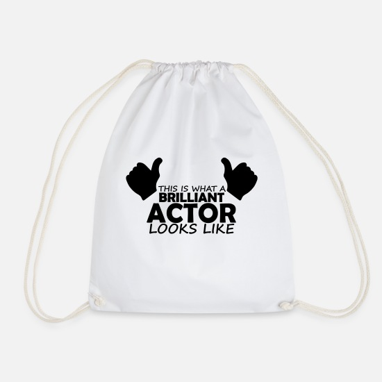 Actor Bags & Backpacks - brilliant actor - Drawstring Bag white
