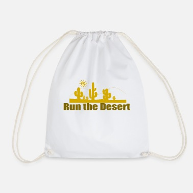 Run the Desert - Drawstring Bag