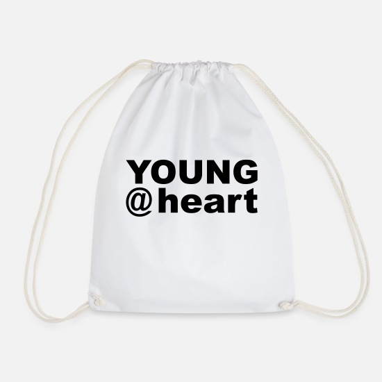 Birthday Bags & Backpacks - Young at heart - Drawstring Bag white
