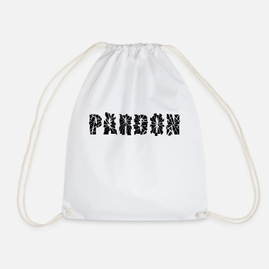 Pardon pardon - Drawstring Bag
