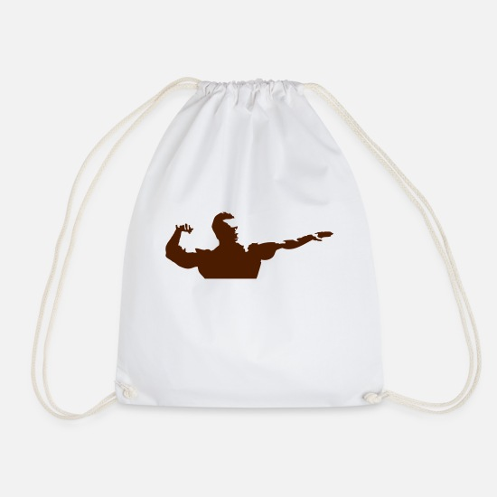 Weightlifting Bags & Backpacks - bodybuilding_7 - Drawstring Bag white