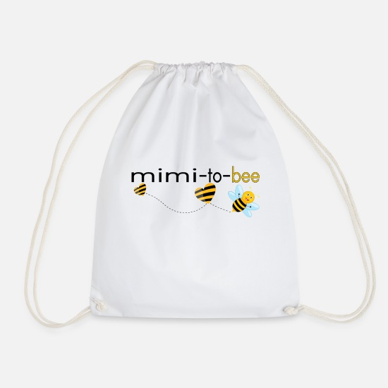 Mimi Bags & Backpacks - Mimi To Bee.. - Drawstring Bag white
