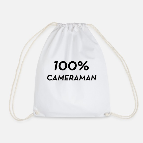 Tv Bags & Backpacks - Cameraman / Camera / Kameramann / Kamera - Drawstring Bag white