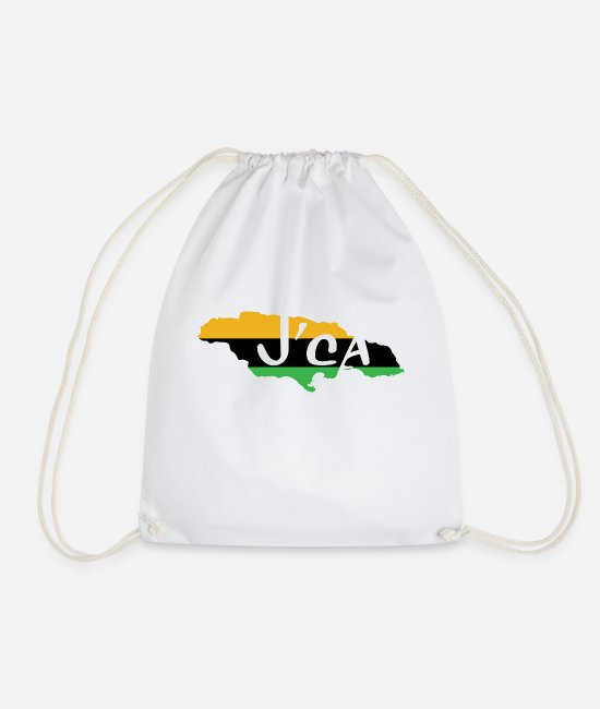 Beach Bags & Backpacks - J'ca - Jamaica - JM - Drawstring Bag white