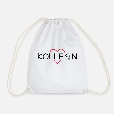 Colleagues Colleague heart favorite colleague gift - Drawstring Bag