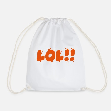 Laughing Out Lout lol - Drawstring Bag
