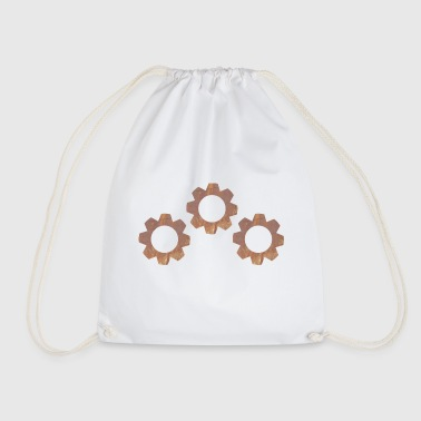 Rusty rusty gears - Drawstring Bag