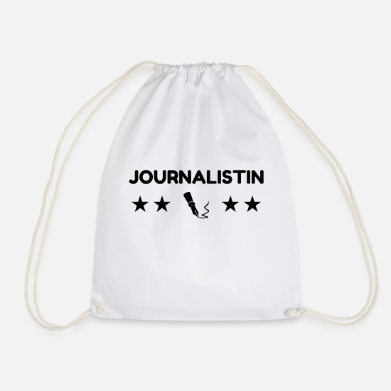 Newspaper Bags & Backpacks - Journalist Journalism Journalismus Journaliste - Drawstring Bag white
