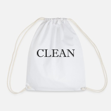 Clean What It Is clean - Drawstring Bag