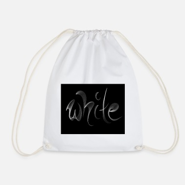 White white. White - Drawstring Bag