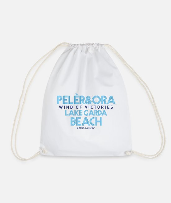 Sail Boat Bags & Backpacks - Garda Lakers Pelèr & Ora - Drawstring Bag white