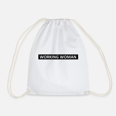 WORKING WOMAN - Drawstring Bag