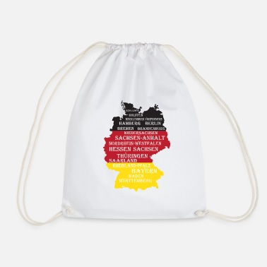 Federal State Federal States Germany flag borders - Drawstring Bag