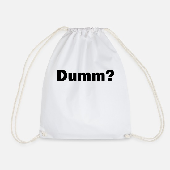 Stupid Bags & Backpacks - Stupid - Drawstring Bag white