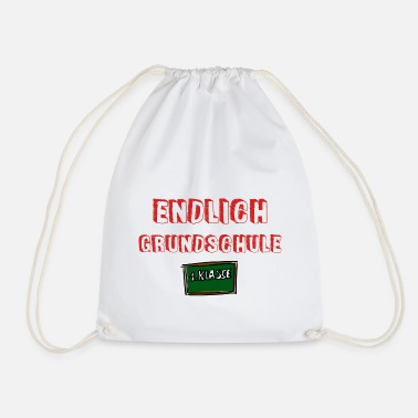 Elementary School Finally elementary school - school enrollment - Drawstring Bag