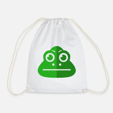 Drawstring Frog animal pond green quack - Drawstring Bag