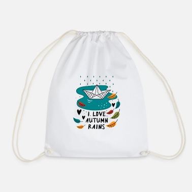 Autumn Autumn rain slogan - Drawstring Bag