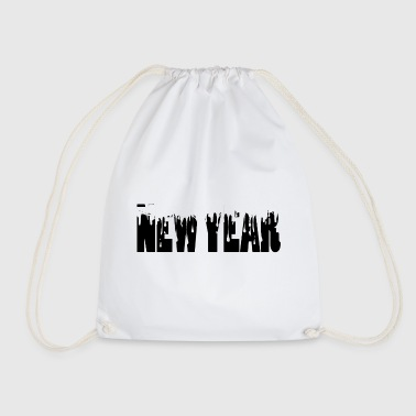 new year drip new year, new year's eve, sylvester - Drawstring Bag