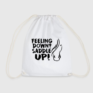 Horse Saying Saddle Up - Drawstring Bag