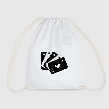 Playing cards black and white - Drawstring Bag