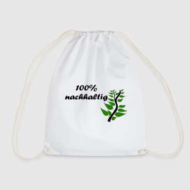 100% sustainable - black - Drawstring Bag